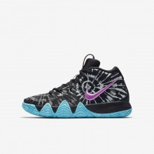 Boys Black/White Nike Kyrie 4 Basketball Shoes AO1322-001