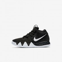 Girls Black/Anthracite/Light Racer Blue/White Nike Kyrie 4 Basketball Shoes AA2898-002