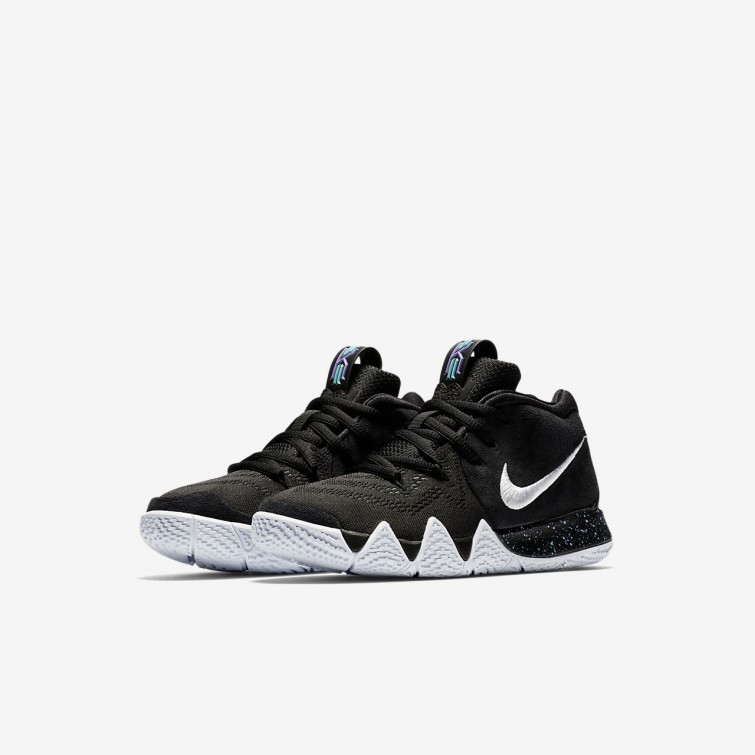 8f08555951d1 ... Girls Black Anthracite Light Racer Blue White Nike Kyrie 4 Basketball  Shoes AA2898