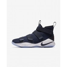 Nike LeBron Soldier XI Basketball Shoes For Women College Navy/White/Team Red 897644-401