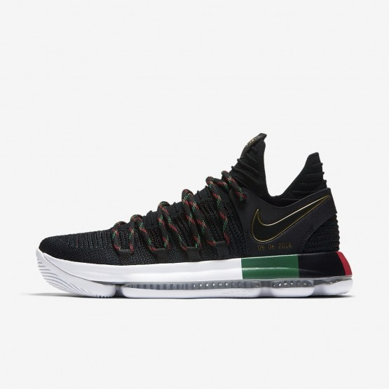 Womens Black/Multi-Color Nike Zoom KDX Basketball Shoes 897817-003