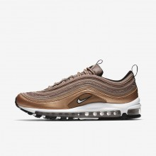 Mens Desert Dust/Metallic Red Bronze/Black/White Nike Air Max 97 Lifestyle Shoes 921826-200