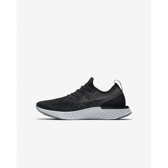 Boys Black/Cool Grey/Dark Grey/White Nike Epic React Flyknit Running Shoes 943311-001