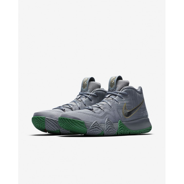 29596c0e1ef9 ... Mens Flat Silver Metallic Gold Nike Kyrie 4 Basketball Shoes 943806-001