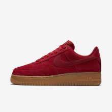 Womens Gym Red/Gum Light Brown/Speed Red Nike Air Force 1 Lifestyle Shoes 896184-601