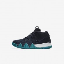 Girls Dark Obsidian/Black Nike Kyrie 4 Basketball Shoes AA2898-401