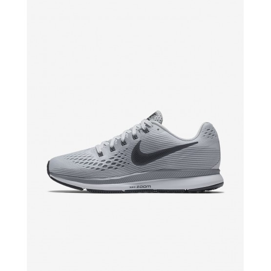 Womens Pure Platinum/Cool Grey/Black/Anthracite Nike Air Zoom Running Shoes 880560-010