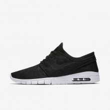 Mens Black/White Nike SB Stefan Janoski Max Skateboarding Shoes 631303-022