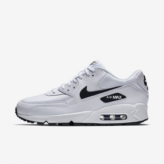 Womens White/Black Nike Air Max 90 Lifestyle Shoes 325213-131