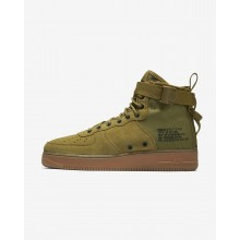 Mens Desert Moss/Gum Medium Brown/Black Nike SF Air Force 1 Lifestyle Shoes 917753-301