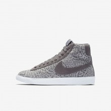 Nike Blazer Mid Lifestyle Shoes For Girls Atmosphere Grey/Gum Light Brown/White/Gunsmoke 902772-004