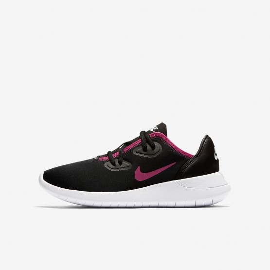 Girls Black/White/Rush Pink Nike Hakata Lifestyle Shoes AO1244-002